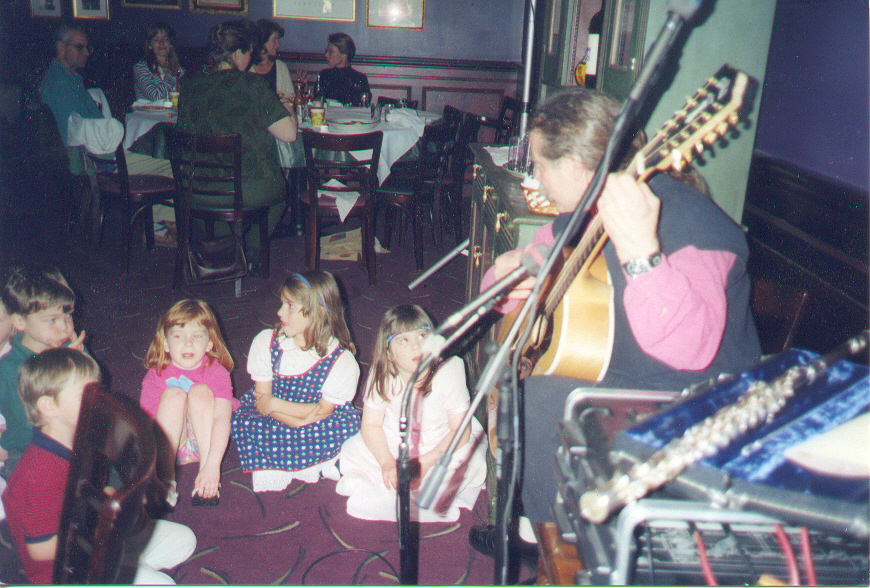 These children came to ask me if I would sing some songs with them when I played for a birthday party.